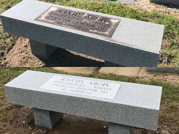 Monument cleaning before and after
