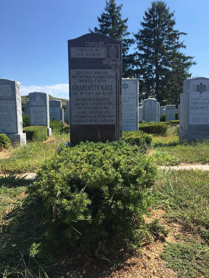 Tall Granite Jewish Headstone