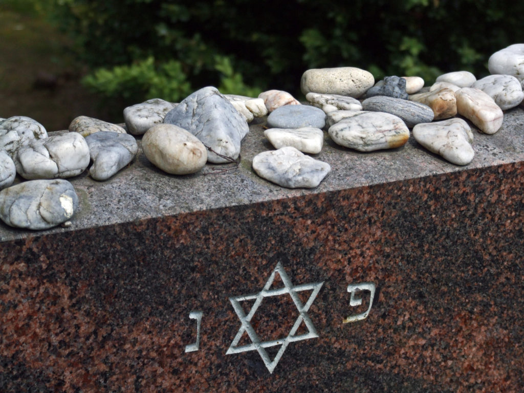 Stones on a Jewish Cemetery Monument