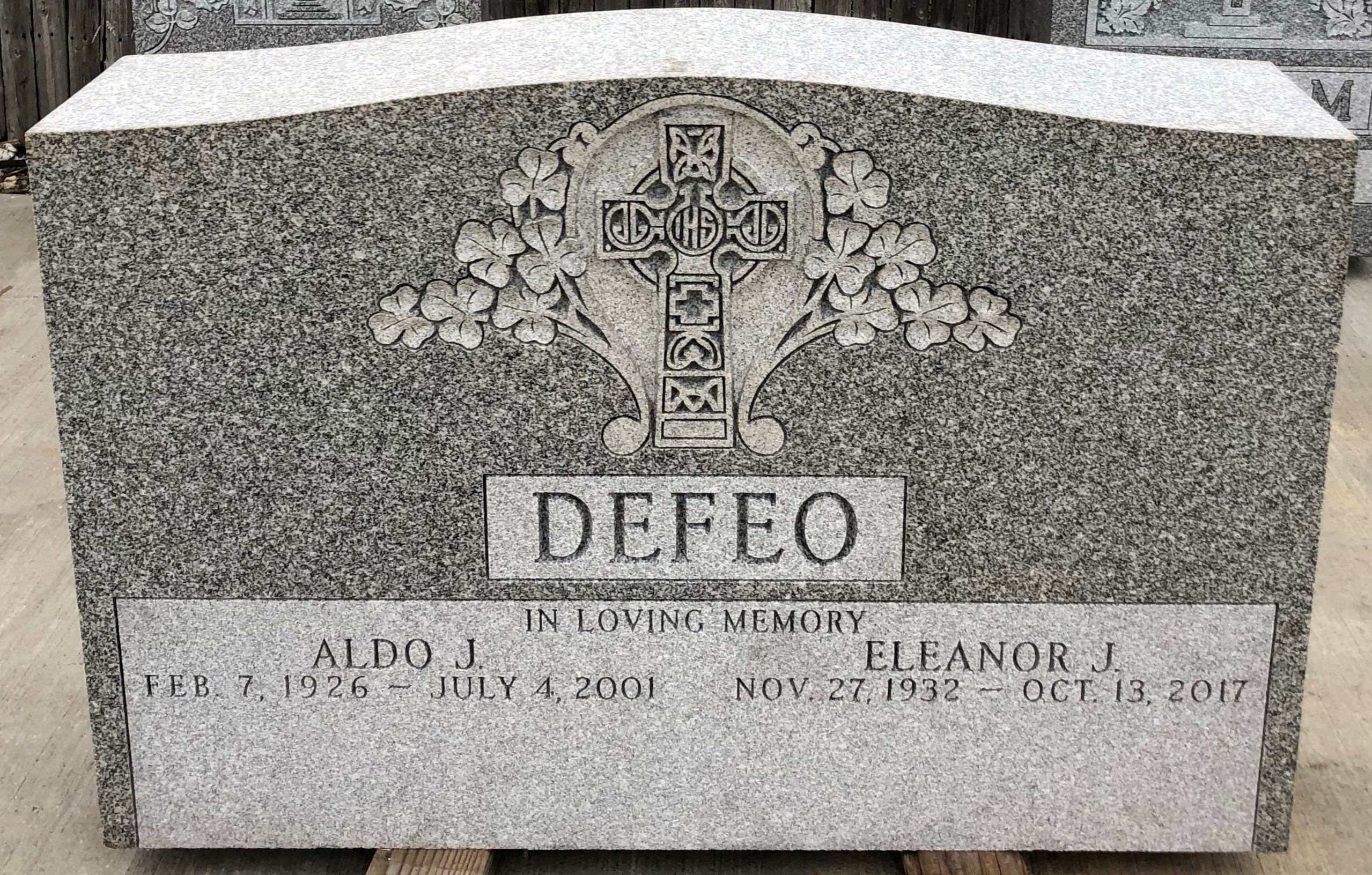 New Christian upright headstones and monuments